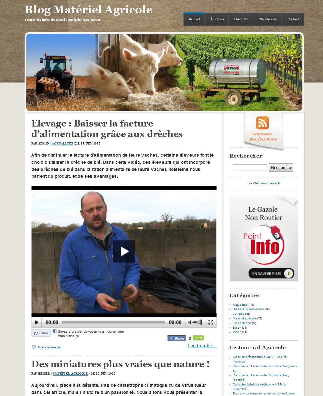 Blog Matériel Agricole : nouvelle version