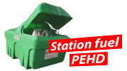Stations fuel PEHD
