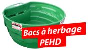 Bacs � herbage PEHD
